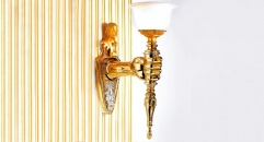 luxury decoration classical Gold 24K style wall lamp, corridor light