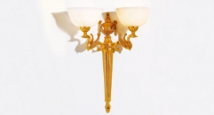 luxury decoration classical Gold 24K style swan wall lamp, corridor light