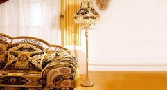 luxury decoration antique Gold 24K style floor lamp