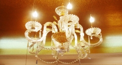 luxury decoration classical Gold 24K style lotus shape chandelier