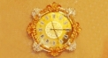 luxury decoration antique Gold 24K style wall clock