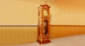 luxury decoration antique Gold 24K style electronic movement clock, Grandfather Floor Clock
