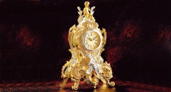luxury decoration antique Gold 24K style table clock