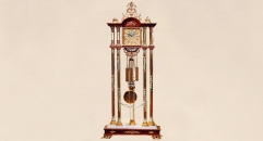 luxury decoration antique Gold 24K style mechanical pendulum floor clock