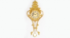 luxury decoration antique Gold 24K style pendulum wall clock