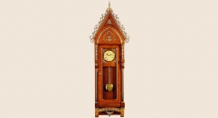 luxury decoration antique Gold 24K style pendulum grandfather clock