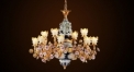 little angel & flower porcelain chandelier,residential lighting,pendent lamp,copper gold plated