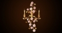 Classical flower decorative wall lamp, copper gold plated
