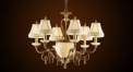 Luxury antique lampshade chandelier(small size),residential lighting,pendent lamp