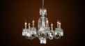 Luxury crystal chandelier,residential lighting,pendent lamp,copper silver plated