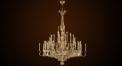 Luxury antique candle shape chandelier,residential lighting,pendent lamp,copper gold plated