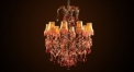 Luxury antique crystal chandelier,residential lighting,pendent lamp,copper gold plated