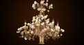 porcelain flower candle shape handelier,residential lighting,pendent lamp,copper gold plated