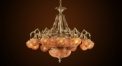 Luxury antique multicolour crystal chandelier,residential lighting,pendent lamp,copper gold plated