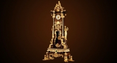 luxury decoration antique copper clock