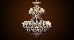 Luxury floral crystal chandelier,residential lighting,pendent lamp