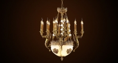Luxury antique angel chandelier,residential lighting,pendent lamp,copper gold plated