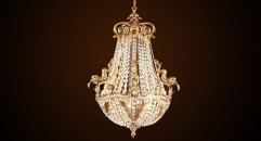 Luxury antique bronze fish crystal chandelier,residential lighting,pendent lamp