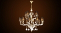 Luxury antique crystal&lampshade chandelier(middle size), pendent lamp,copper gold plated