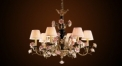 Antique porcelain flower chandelier,residential lighting,pendent lamp,copper gold pl
