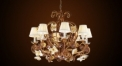Luxury antique crystal chandelier,pendent lamp,copper gold plated
