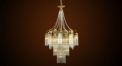Luxury antique tassel crystal chandelier,residential lighting