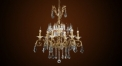 Luxury antique candle style crystal chandelier, pendent lamp,copper gold plated