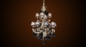Antique flora&lampshade style crystal chandelier, pendent lamp,copper silver plated