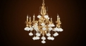 Luxury antique crystal&candle lamp chandelier, pendent lamp,copper gold plated