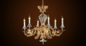 Crystal chandelier,droplight,ceiling lamp, blossom lampshade