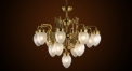 Luxury antique chandelier,residential lighting,pendent lamp,copper gold plated
