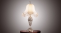 fabric lampshade table lamp,classical bronze crystal table lamp