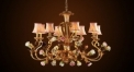 Luxury antique rose chandelier,residential lighting,pendent lamp,copper gold plated