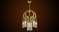 Luxury leaf decorative crystal chandelier, pendent lamp,copper gold plated