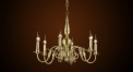 Antique candle lamp style chandelier,residential lighting,pendent lamp,copper gold plated