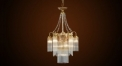 Luxury Vintage French Empire Brass Lamp Rainbow Crystal Prism Chandelier