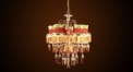 Luxury antique crystal&flower lampshade chandelier(small size), pendent lamp,copper gold plated