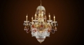 Luxury antique candle shape crystal chandelier, pendent lamp,copper gold plated