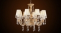 Antique fabric lampshade style crystal chandelier(big size), plastic pendent lamp