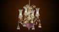 Luxury floral crystal chandelier,residential lighting,pendent lamp,copper gold plated