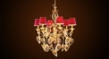 Antique flora crystal chandelier,residential lighting, copper gold plated & leaf decorated