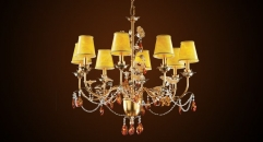 Antique lampshades style crystal chandelier(small size),residential lighting,copper gold plated