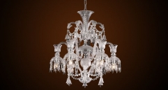 Luxury antique crystal chandelier,residential lighting,pendent lamp,copper plated