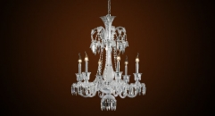 Luxury antique crystal candle shape chandelier, pendent lamp
