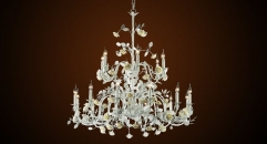 New Design Porcelain Rose Chandelier