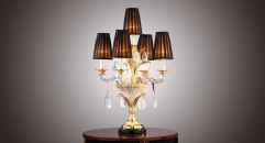 European table lamp,classical crystal table lamp,bronze table lamp