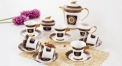 17pcs porcelain coffee set