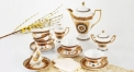 17 pcs golden porcelain tea set