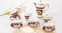 17 pcs lion head( red)tea set