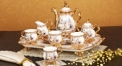 8 pcs royal Arowana tea set, romantic theme